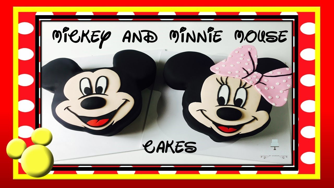 Mickey Mouse Cake And Minnie Mouse Cake How To Make From Creative Cakes By Sharon