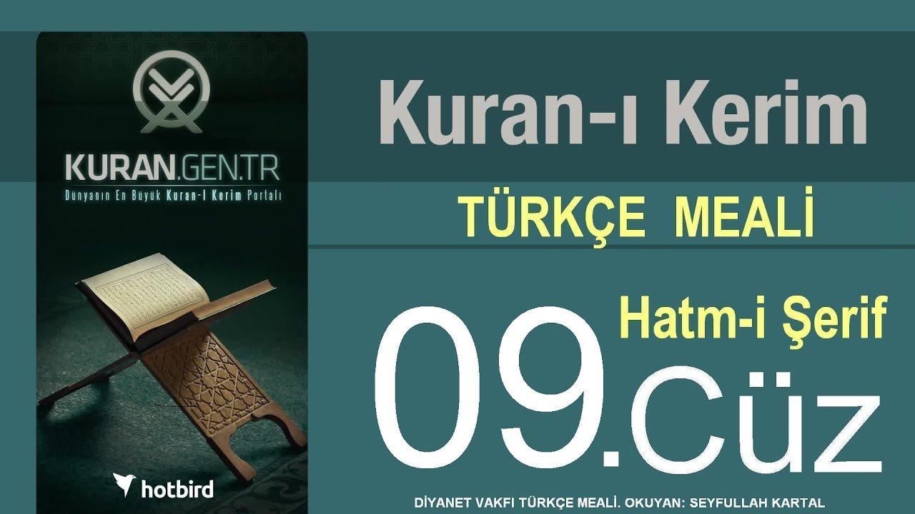 Türkçe Kurani Kerim Meali, 09 Cüz, Diyanet işleri vakfı meali, Hatim, Kuran.gen.tr