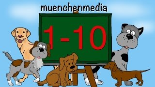 🎵 Zahlen lernen für Kinder - Kinderlieder deutsch   Kinderlieder zum Mitsingen - muenchenmedia
