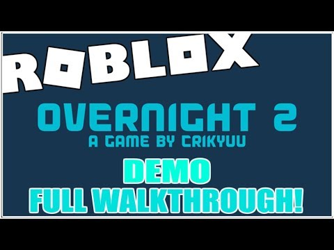 SLEEPOVER 2 / OVERNIGHT 2 - The Final Frontier - DEMO Full Walkthrough! [ROBLOX]