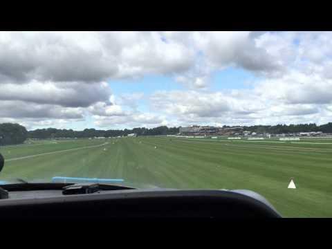 Landing Haydock Park Racecourse