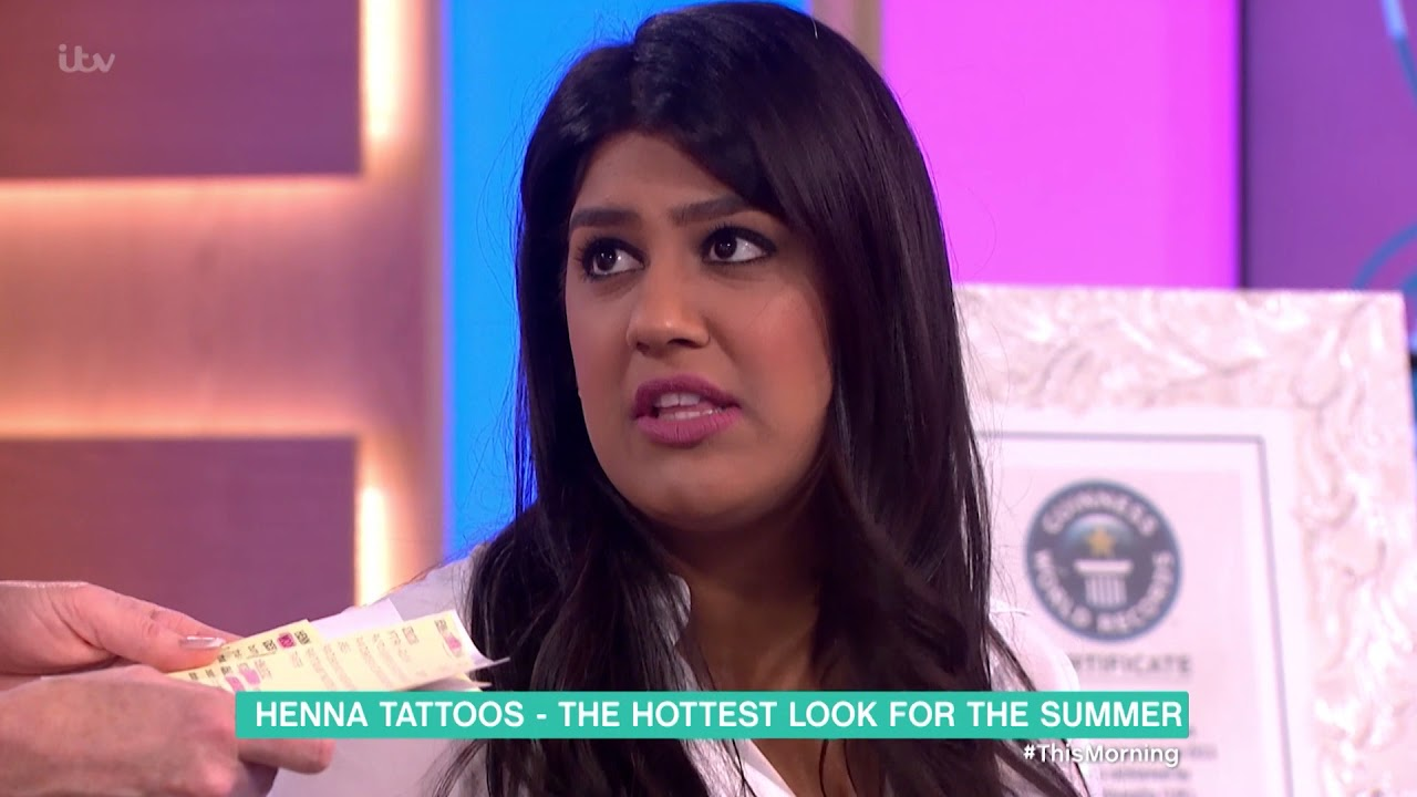 d85d90440 Henna Tattoos - the Hottest Look for the Summer | This Morning - YouTube