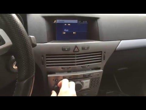 opel astra h, dvd 90 navi, aux-in bauteile eingelötet - youtube