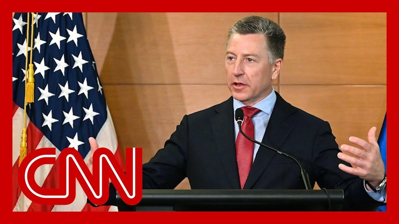 Kurt Volker, Trump's special envoy to Ukraine, resigns, US official says