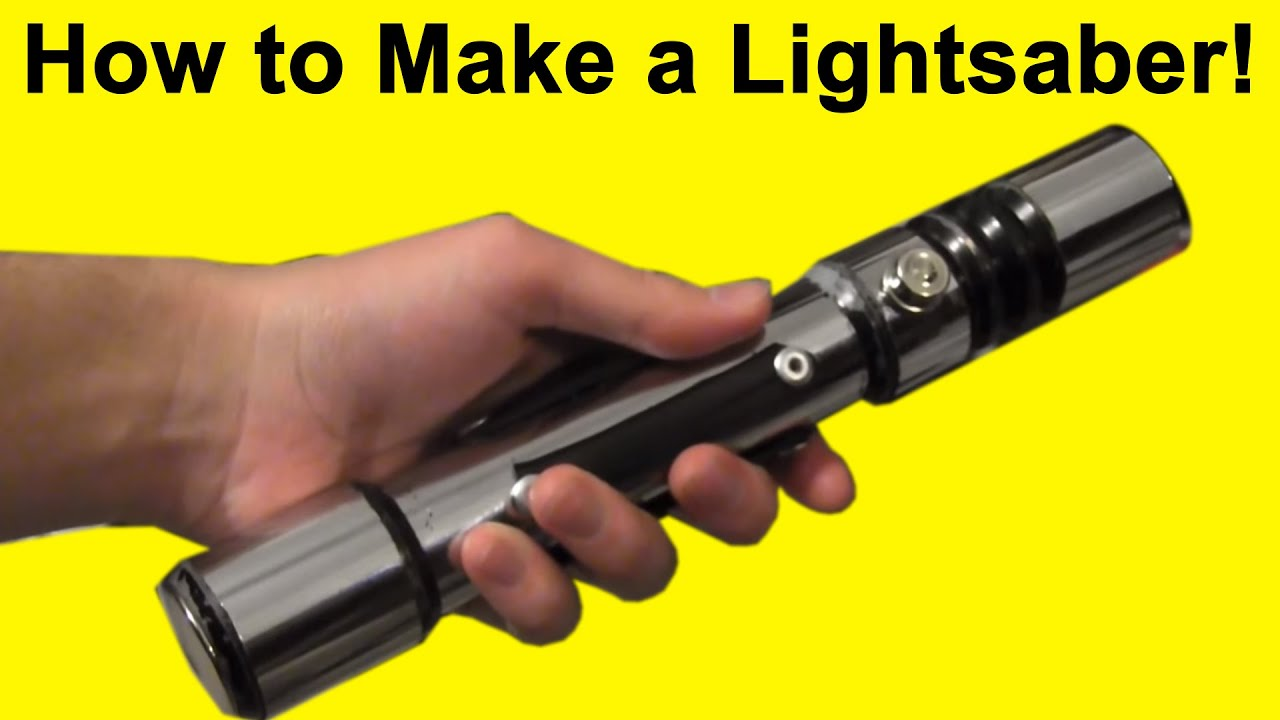 How To Make A Lightsaber Diy Youtube