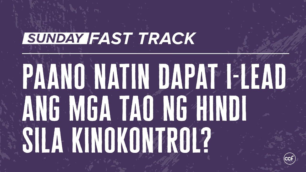 Paano ba natin dapat i-lead ang mga tao ng hindi sila kinokontrol?