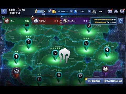 marvel  future fight  ittifak fethi modu taktikleri  1.000 abone özel
