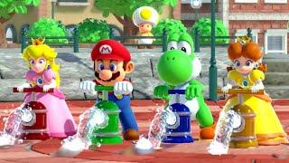 Super Mario Party Minigame Battle - Peach vs Yoshi vs Mario vs Daisy (Master CPU)