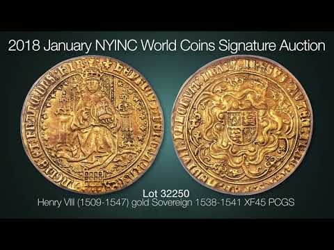Henry VIII (1509-1547) gold Sovereign 1538-1541 XF45 PCGS,