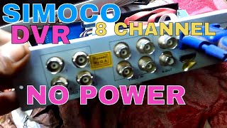 no power dvr repair in hindi# simoco 8 channel
