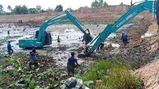 ลงไปจับปลา Kobelco sk140-8 Excavator