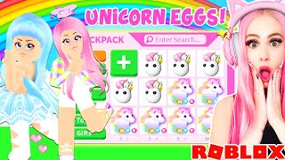 We Opened 100 UNICORN EGGS In Adopt Me To Make MEGA NEON UNICORNS... Roblox Adopt Me