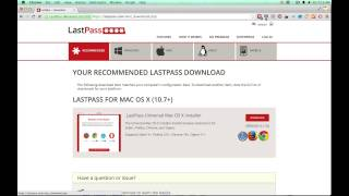 Downloading the LastPass browser tool