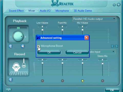 How to set up your microphone with realtek hd