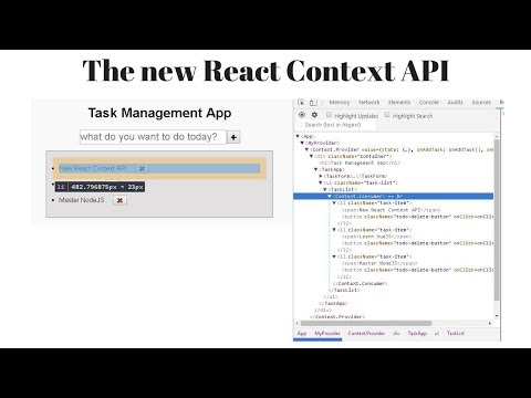 Part -1 - Building a sample/demo app using the new React Context API