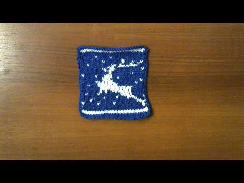 ОЛЕНИ.  Жаккардовый узор. Новогодний узор. #мастеркалсс #красивыйузор  #knitting #лучшее #мк