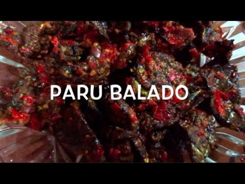 Paru Balado - Cara Membuat Paru Goreng Balado ~ Deep Fried Beef Lungs with Chillies II CLK