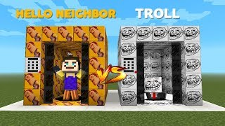 HELLO NEIGHBOR VS TROLL ELEVATOR - Minecraft