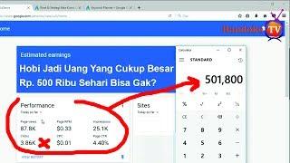 Menghasilkan 400 ribuan Sehari - Blogger Atau YouTuber (Pilih CPC Atau CPM) Part 1