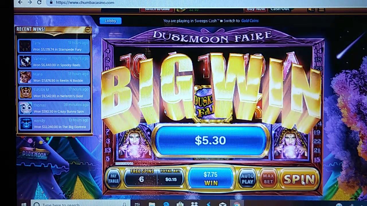 Duskmoon Faire Chumba Casino Big Win Youtube