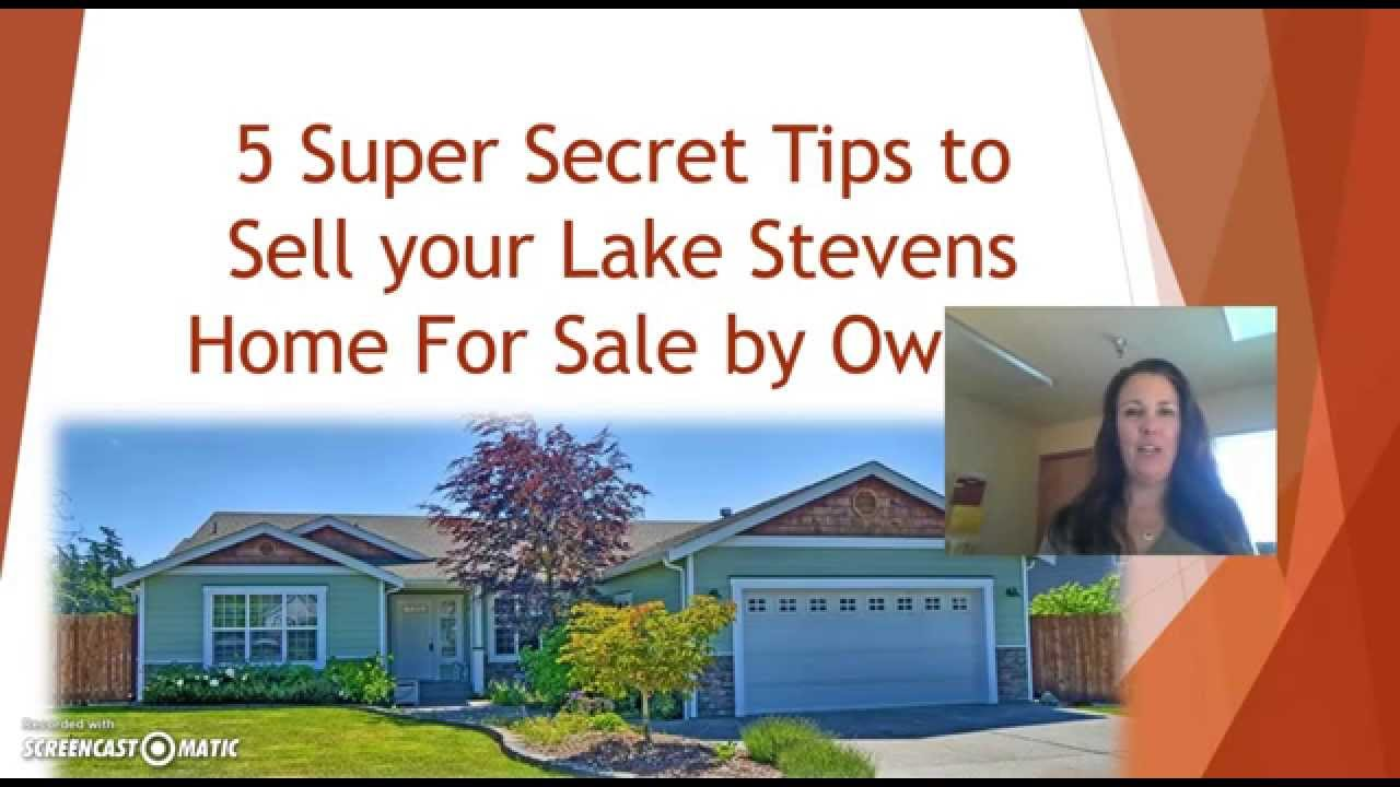 5 Tips To Sell Your House By Owner Lake Stevens Fsbo