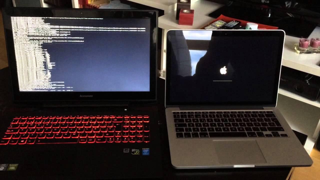 : Lenovo Y50 HACKINTOSH vs MacBook Pro Retina : BOOT TEST