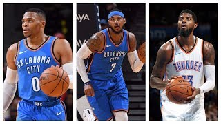 Best Of Russell Westbrook, Carmelo Anthony & Paul George From The 2017 NBA Preseason