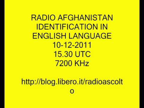 RADIO AFGHANISTAN IDENTIFICATION IN ENGLISH LANGUAGE