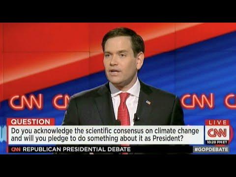 Marco Rubio 12 of 15/Climate Change/Rep CNN Debate 3/10/16