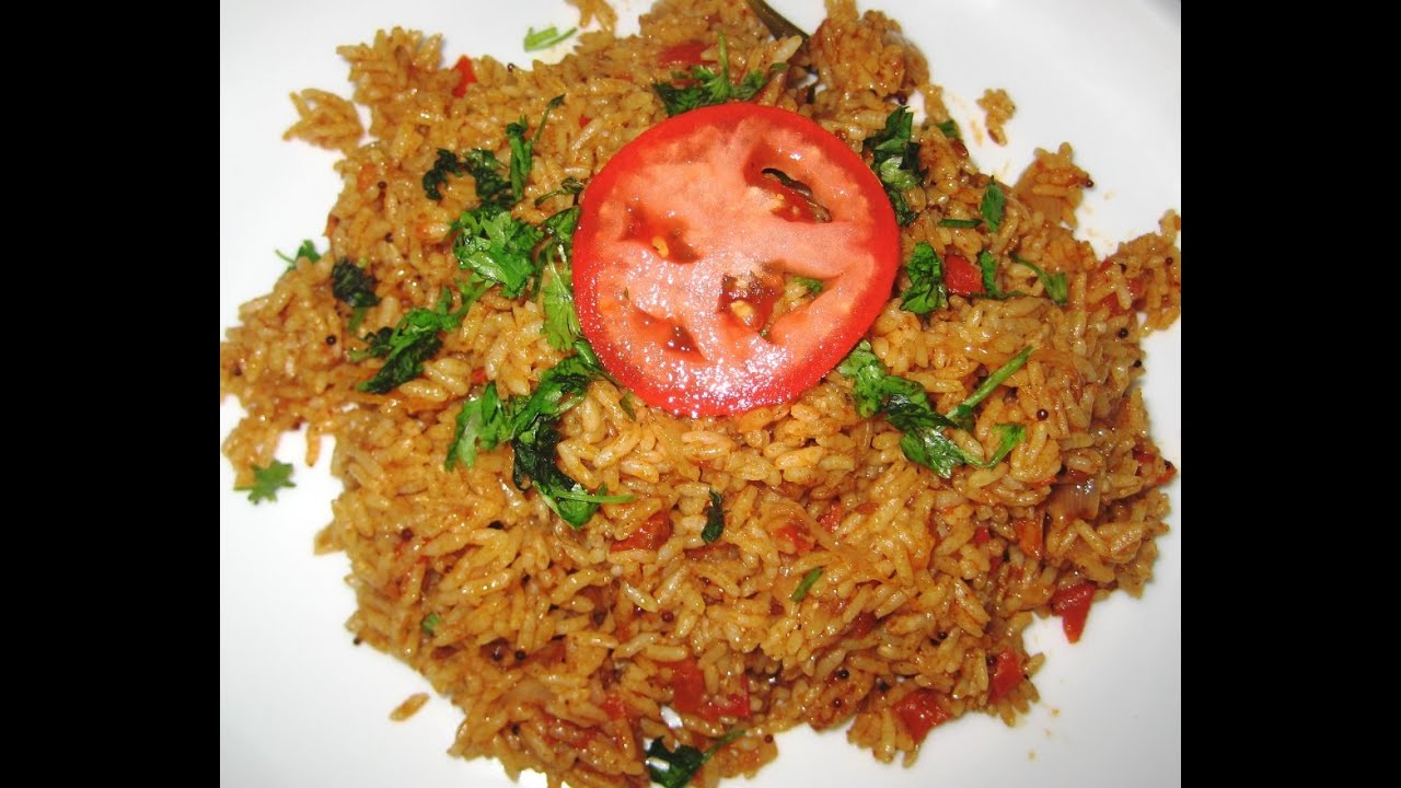 Tomato rice recipe tomato bathtomato pulao youtube ccuart Image collections