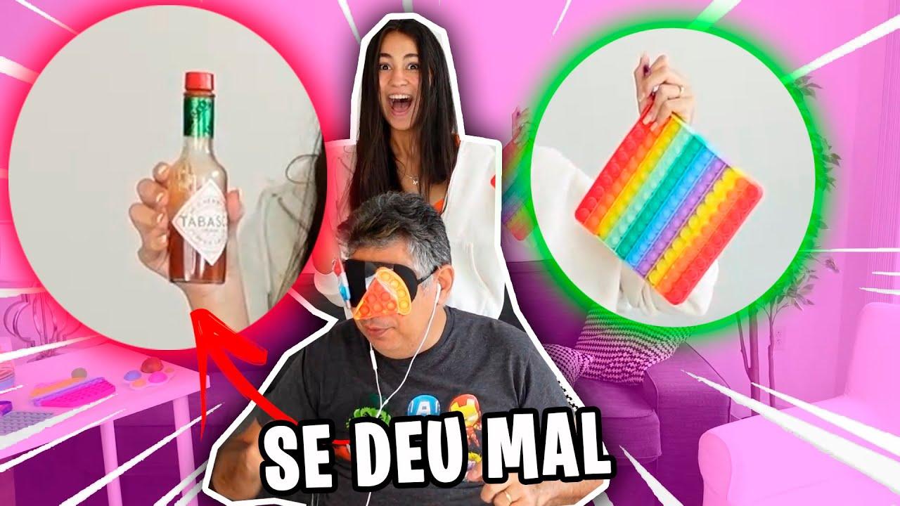 TROCA de FIDGET TOYS com Meu Pai!! troquinha de fidget toy vs Pimenta ** DEU RUIM 😅🥵 Bela Bagunça