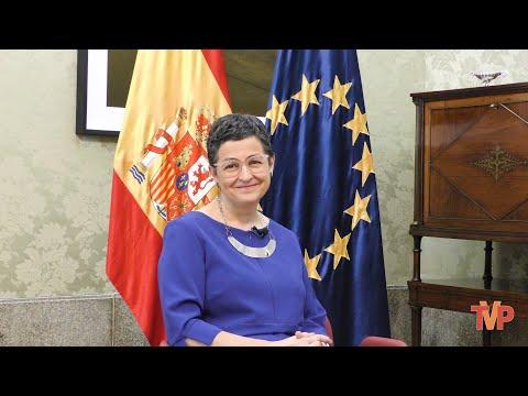 La Ministra Arancha González Laya recibe a TVP en El Palacio de Santa Cruz en Madrid