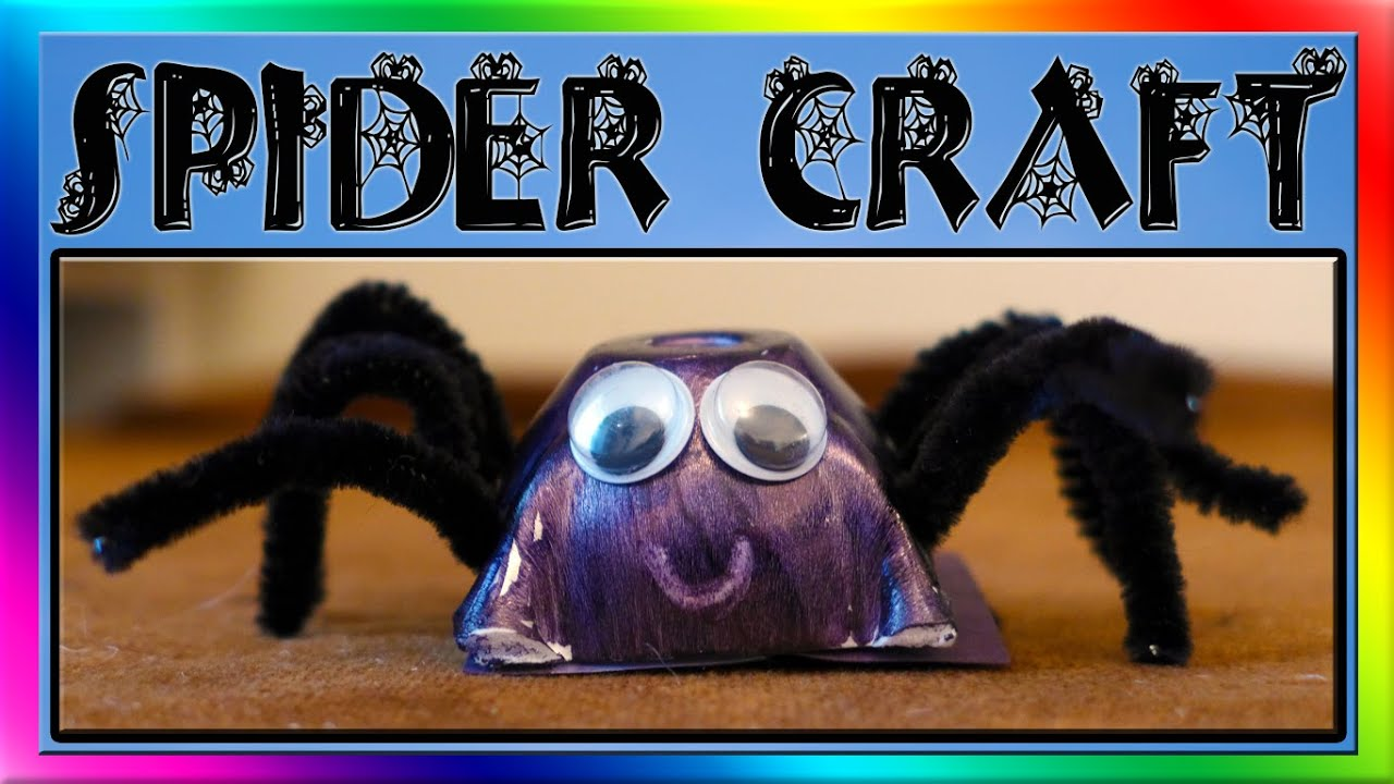 easy spider craft for kids youtube