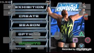 PlayStation2 PS2 Android Emulator Play! v0.30 WWE SmackDown! Here Comes the Pain Game Play