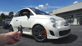 2018 Fiat 500 Abarth: Start Up, Exhaust, Test Drive and Review