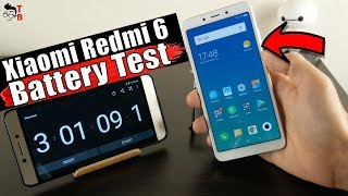 Xiaomi Redmi 6 - Battery Drain Test & Charging Time