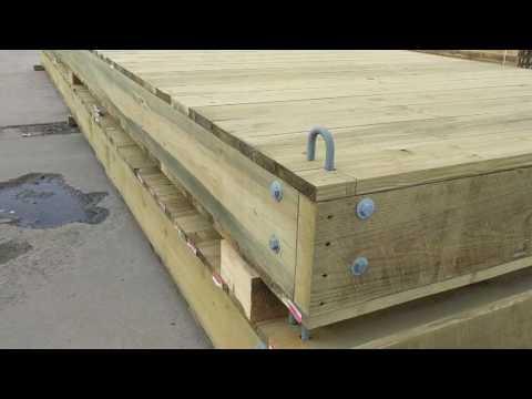 Custom Floating Docks for Construction