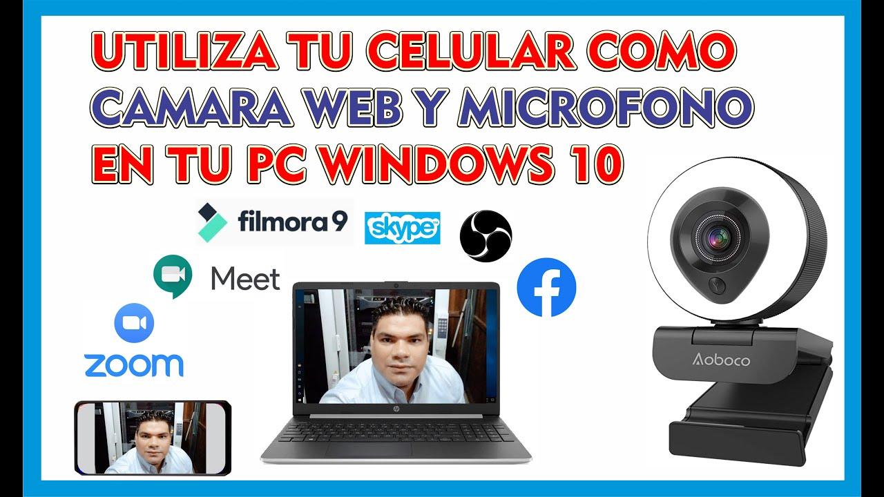 USA TU CELULAR COMO CÁMARA WEB Y MICRÓFONO EN TU PC CON CABLE USB Y WIFI, ACTUALIZADO 2020