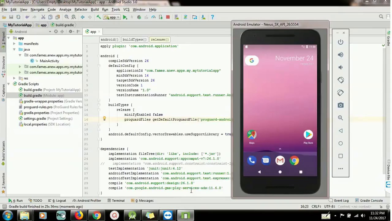 How to change package name in android studio 3 0
