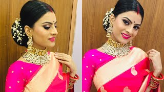 Traditional  karwa chauth makeup look created by Shivam ❤️|। NikkuSumitOfficial
