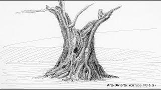 Cómo usar una pluma de inmersión - Dibujando un árbol olivo- Narrado