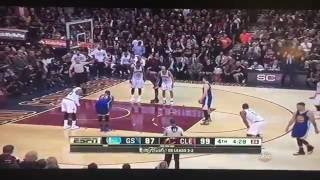 steph curry gets fouled out then throws mouth guard at fan and gets ejected nba finals game 6