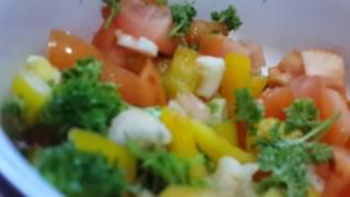 РЕЦЕПТ Салат из овощей с болгарским перцем и сельдереем . Полезный и вкусный.Вкусняши tasty