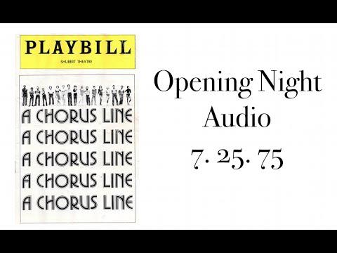 A CHORUS LINE Audio Opening Night 7. 25. 75   Shubert Theatre