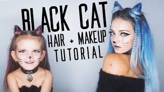 BLACK CAT | Hair and Makeup Tutorial!