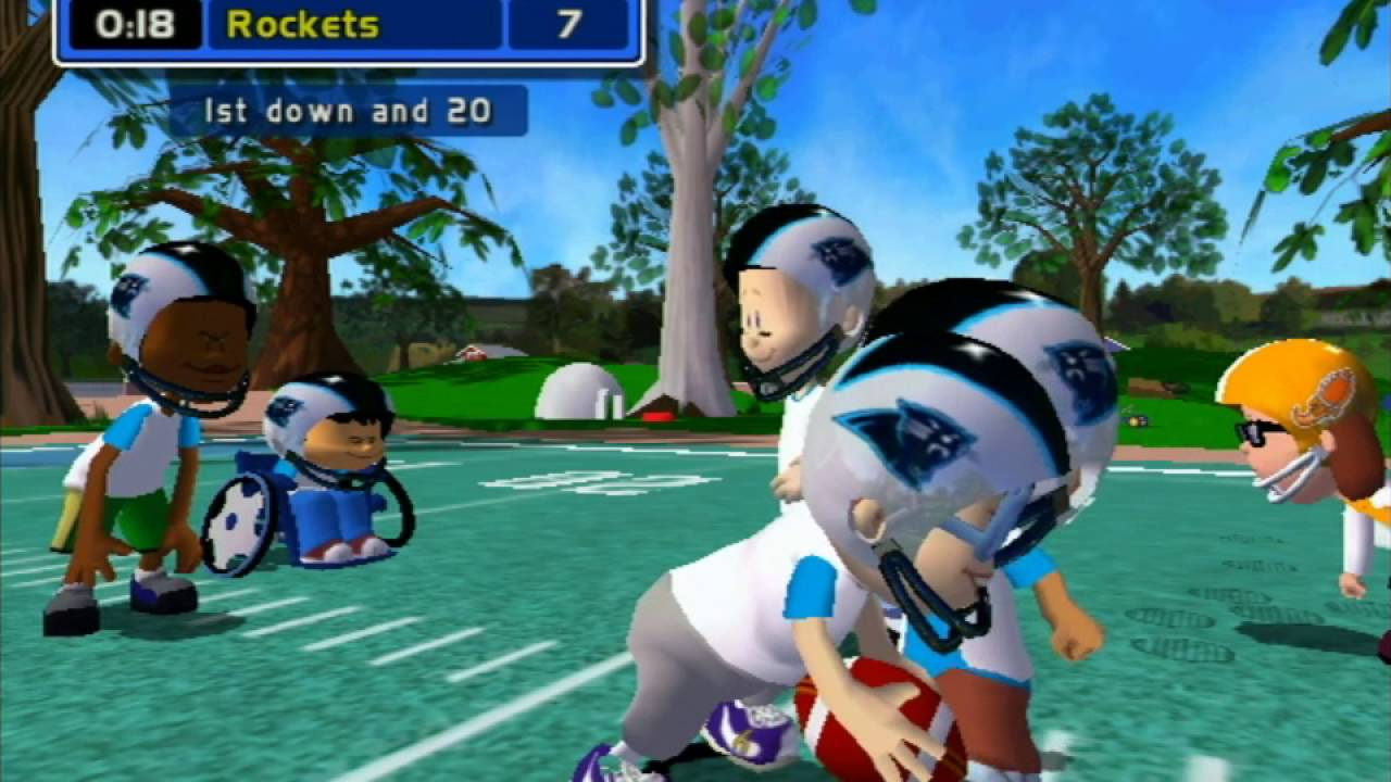 Backyard Football Video Game backyard football (gamecube) gameplay - youtube