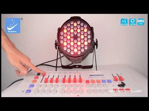 PAR LED RGBW 54X3W MARCA BIG DIPPER