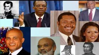 Liste des président d'Haïti de 1804 à 2021