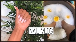 Come To The Nail Salon With Me| Gel Full-Set & Spa Pedicure