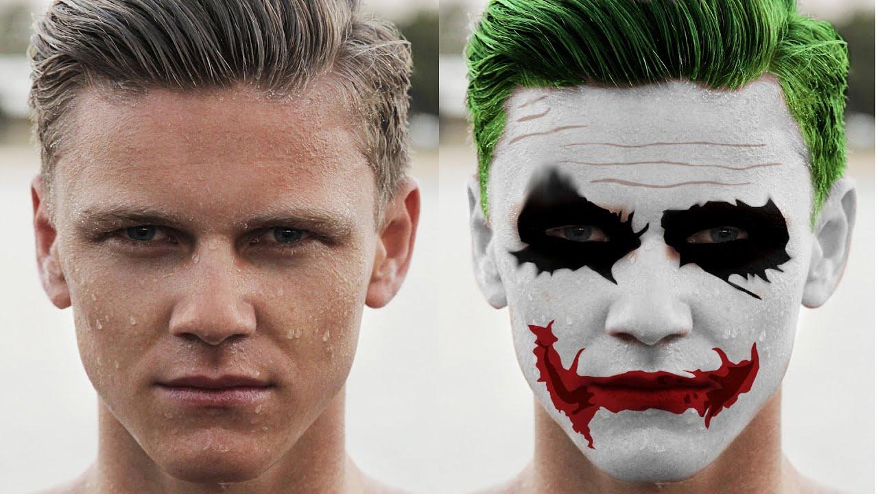 Batman Joker Heath Ledger Effect In Gimp The Dark Knights Photoshop 8